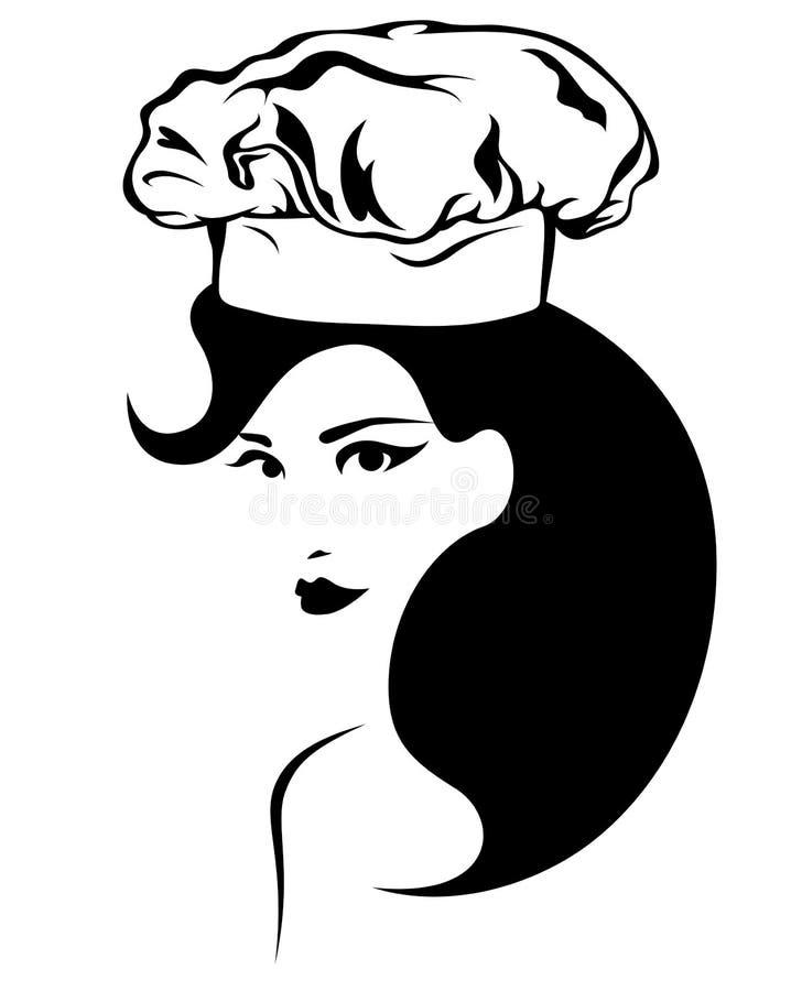 Cozimento da mulher ilustração stock