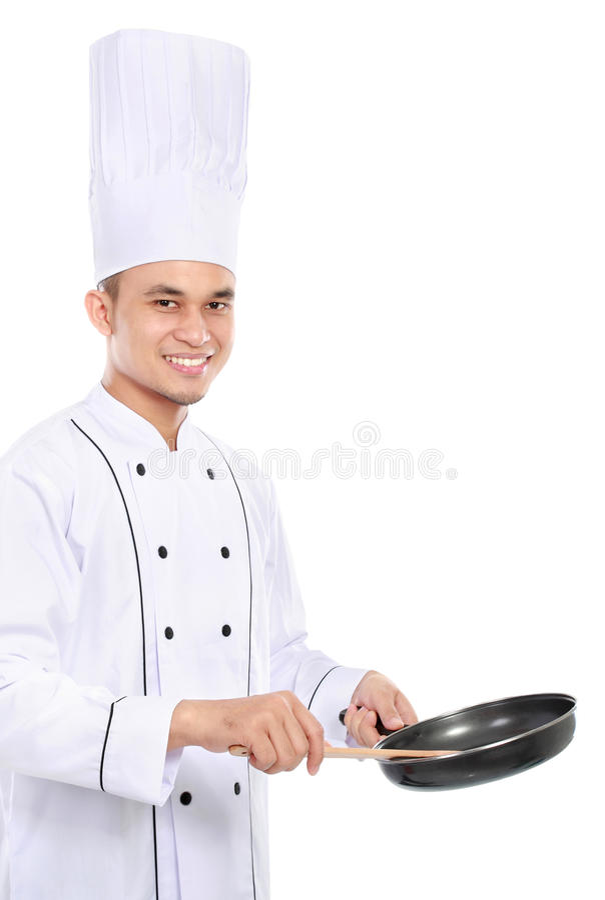 Cozimento do cozinheiro chefe fotografia de stock