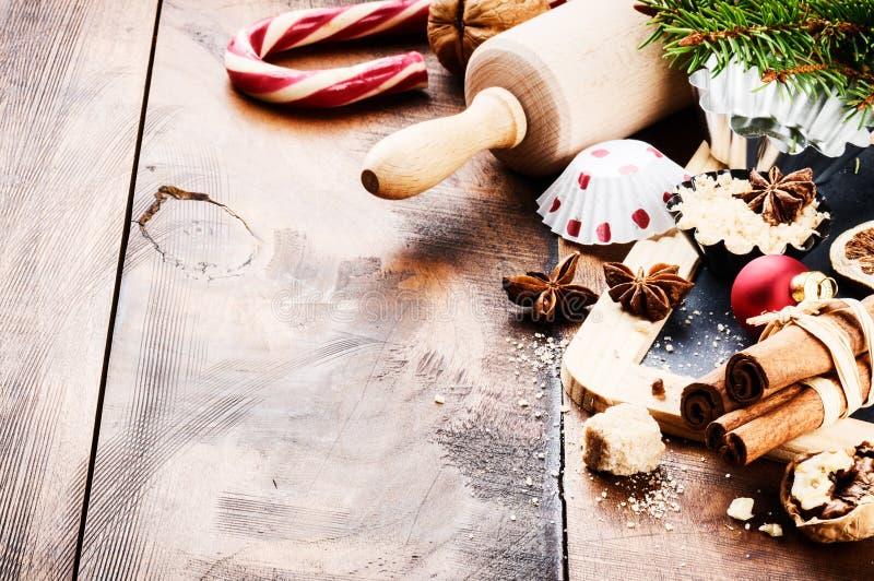Cozimento do feriado do Natal imagem de stock