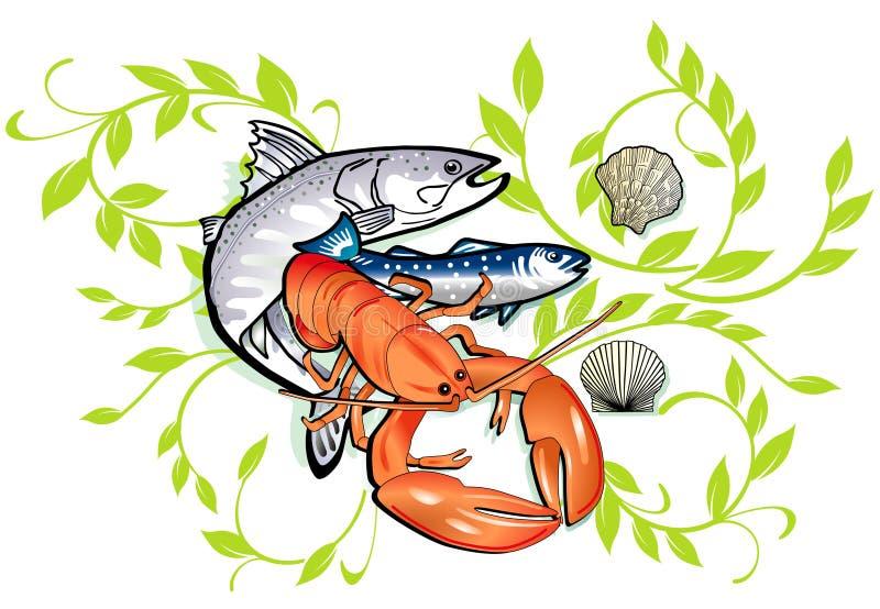 Cozimento do marisco ilustração stock