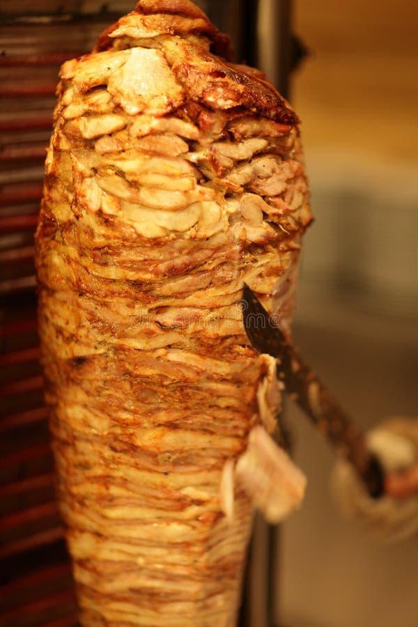Cozimento do shawarma fotos de stock