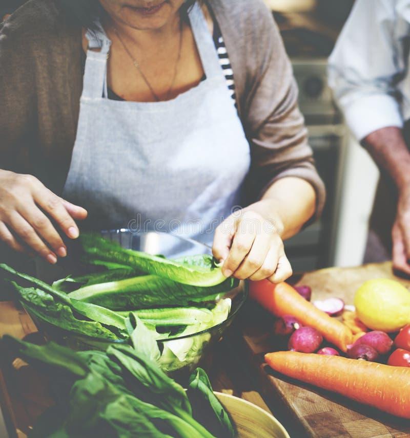Cozimento preparando o conceito do vegetariano do ingrediente de alimento fotografia de stock