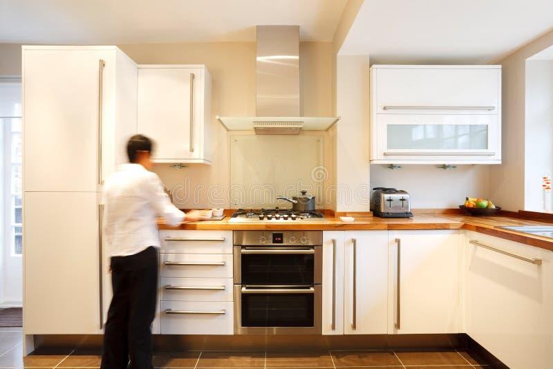 Cozinha à moda fotografia de stock