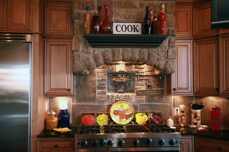 Cozinha a área fotografia de stock royalty free