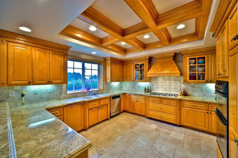 Cozinha 1 do gourmet fotografia de stock royalty free