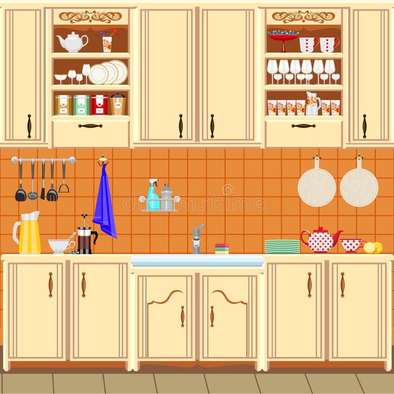 Cozinha ilustração stock