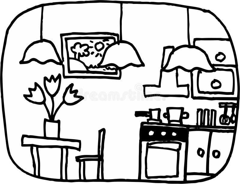Cozinha ilustração royalty free