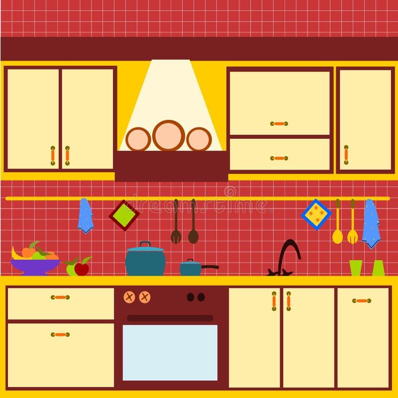 Cozinha amarela ilustração stock