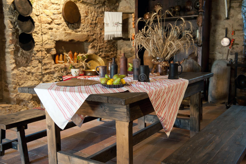 Cozinha antiga fotografia de stock