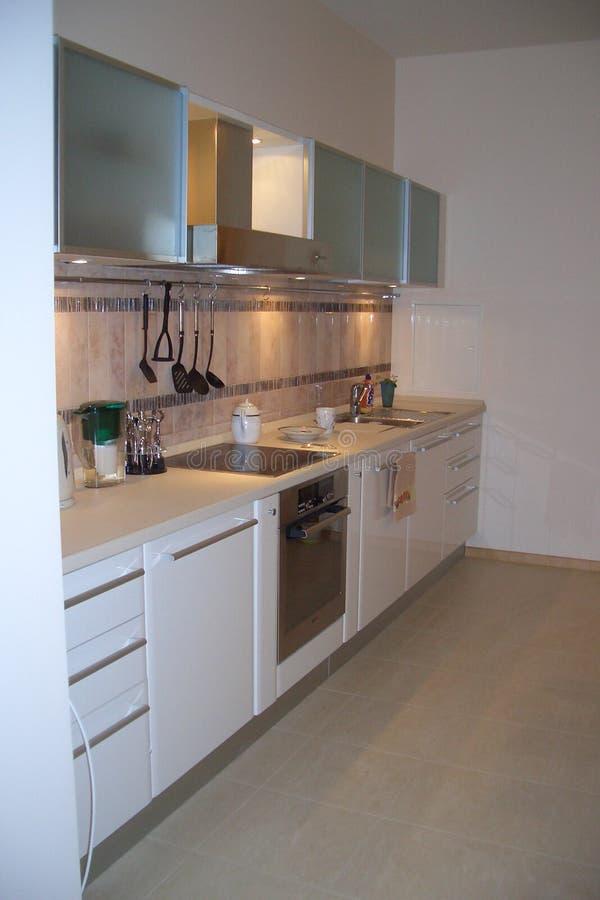 Cozinha bonita, espaçoso no estilo de Art Nouveau imagens de stock