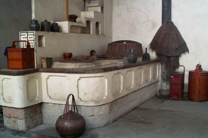 Cozinha chinesa do estilo tradicional foto de stock royalty free