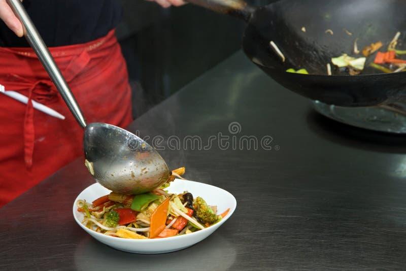 Cozinha chinesa do restaurante fotos de stock