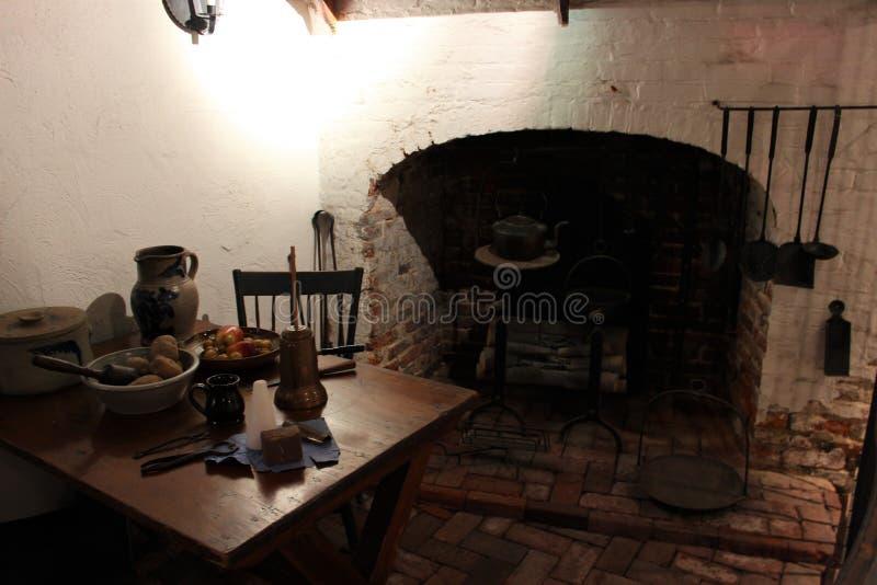 Cozinha colonial foto de stock