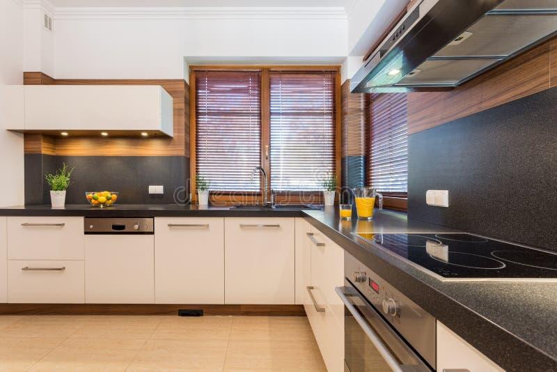 Cozinha com trigo preto imagens de stock