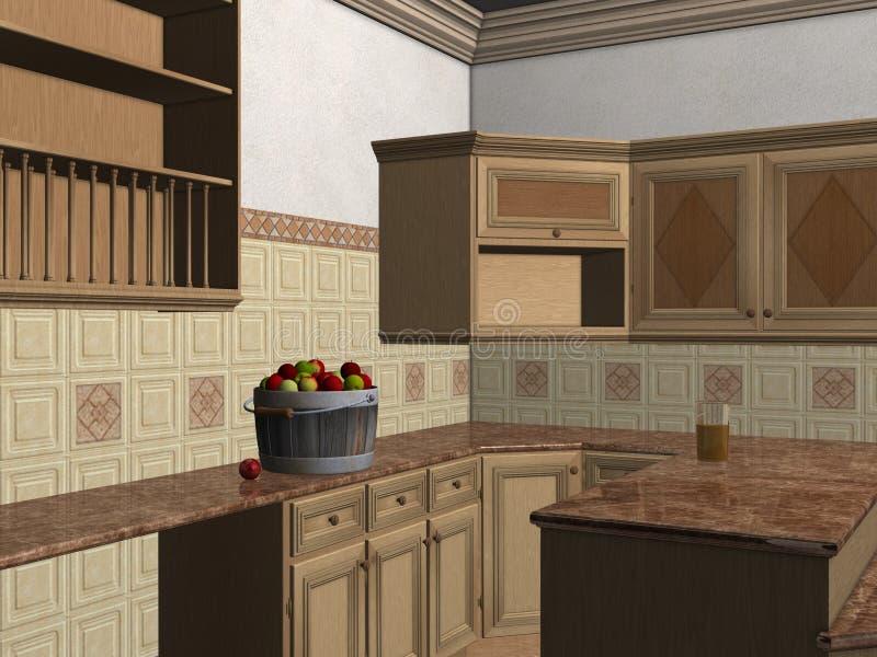 Cozinha contemporânea ilustração stock