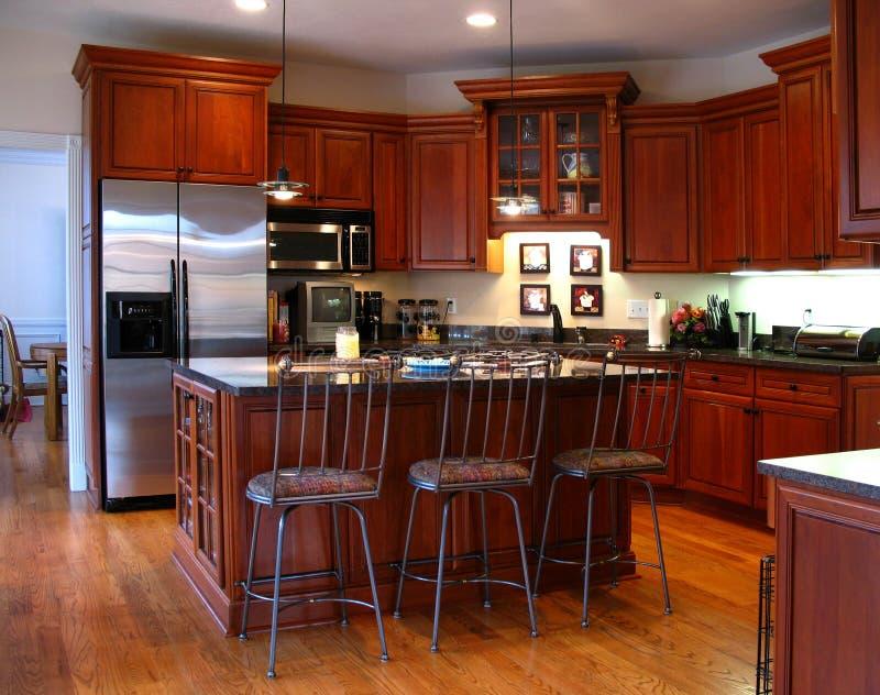 Cozinha de gama alta horizontal imagem de stock royalty free
