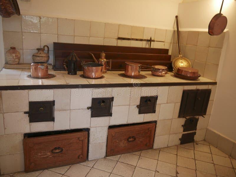 Cozinha de uma casa de campo em Anacapri na ilha de Capri na baía de Nápoles Itália fotos de stock royalty free