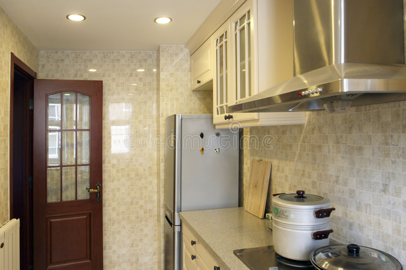 cozinha do Chinês-estilo. imagem de stock