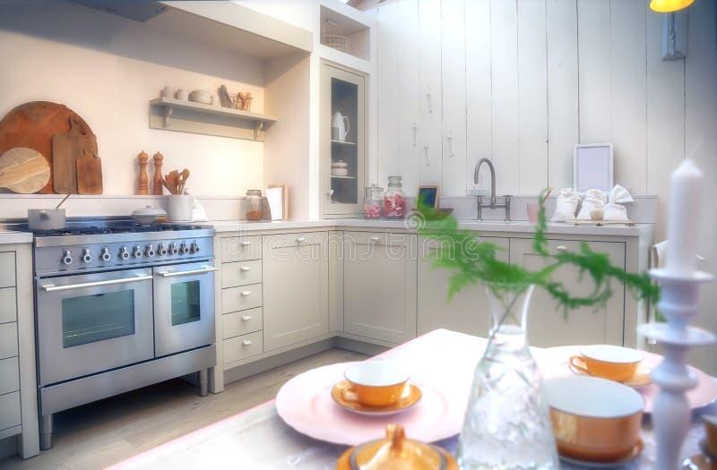 Cozinha do estilo country foto de stock