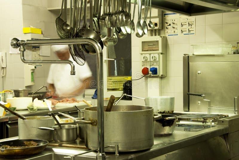 Cozinha do hotel fotografia de stock royalty free