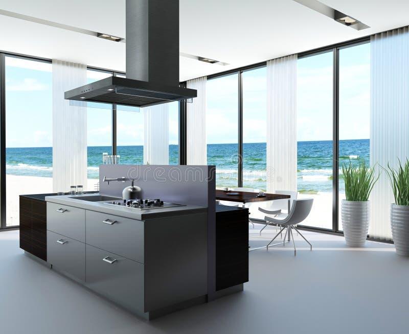 Cozinha do projeto moderno | Arquitetura interior ilustração royalty free