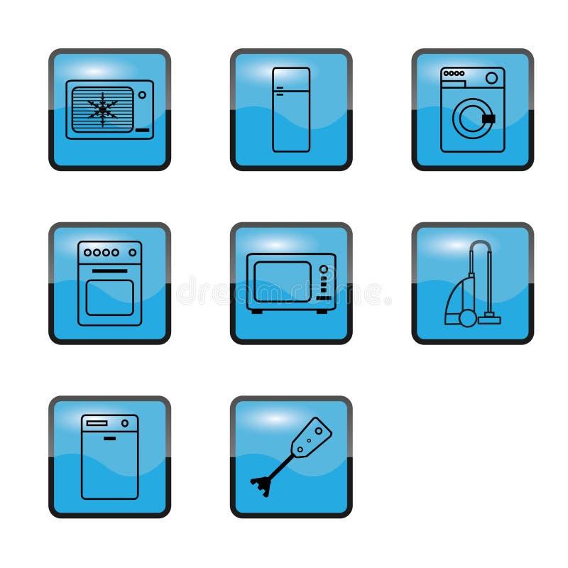 Cozinha dos aparelhos electrodomésticos imagem de stock