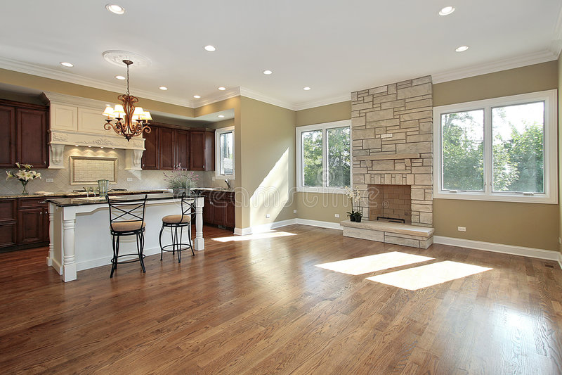 Cozinha e quarto de família fotos de stock royalty free