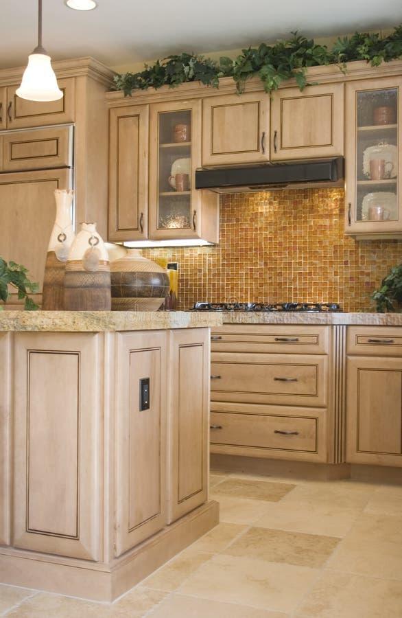 Cozinha elegante moderna imagem de stock