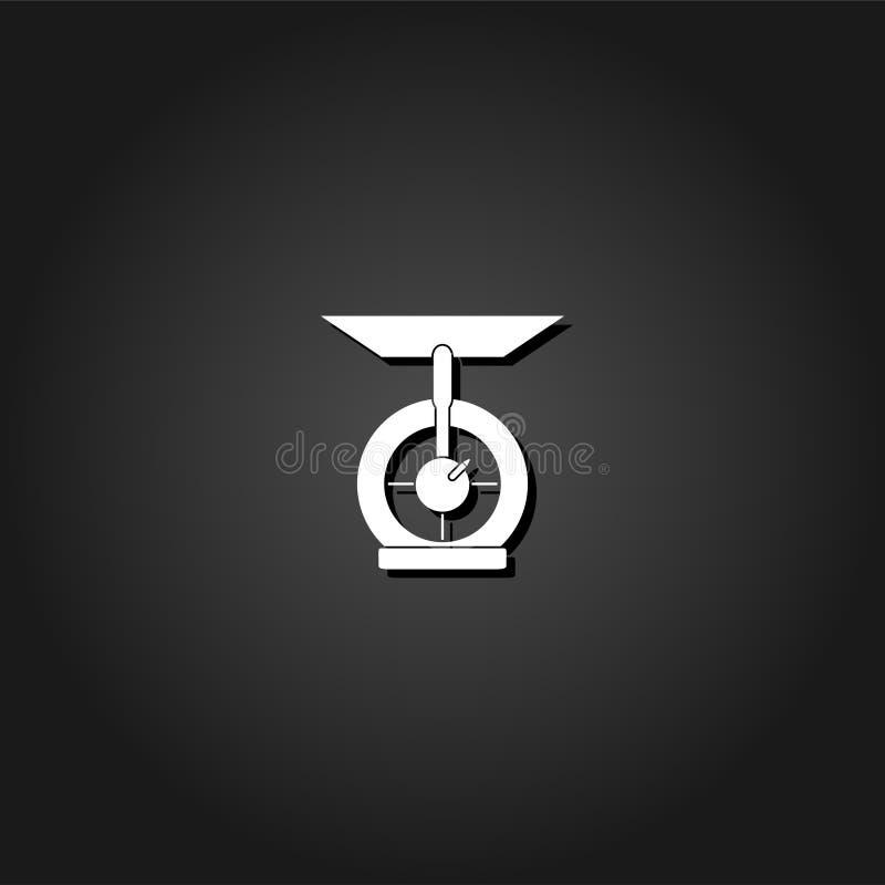 A cozinha escala o plano do ícone ilustração stock