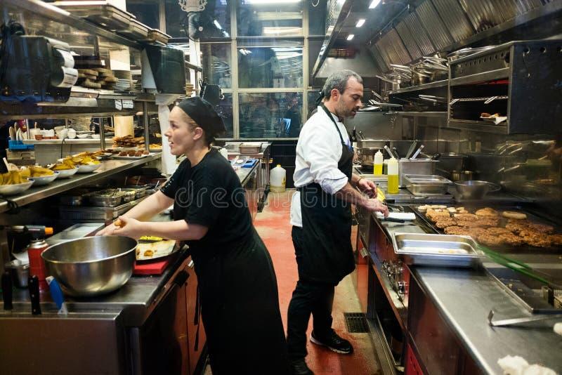 Cozinha espanhola do restaurante imagem de stock royalty free