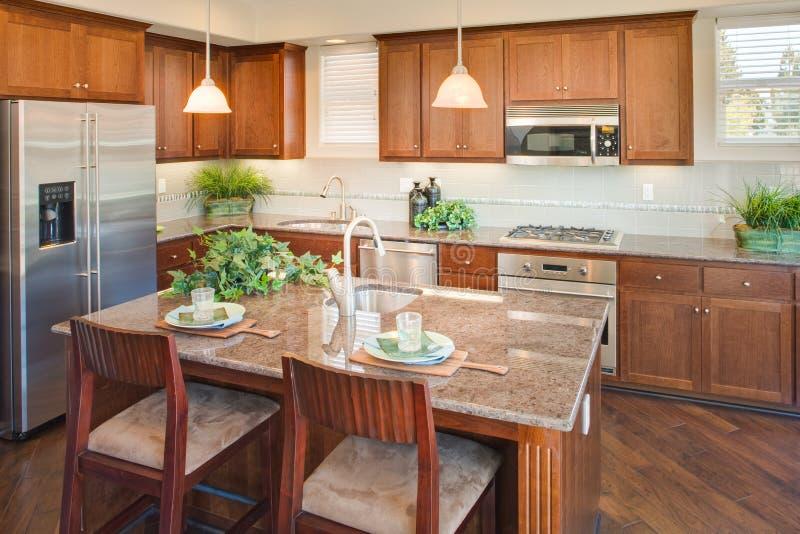 Cozinha home residencial imagem de stock