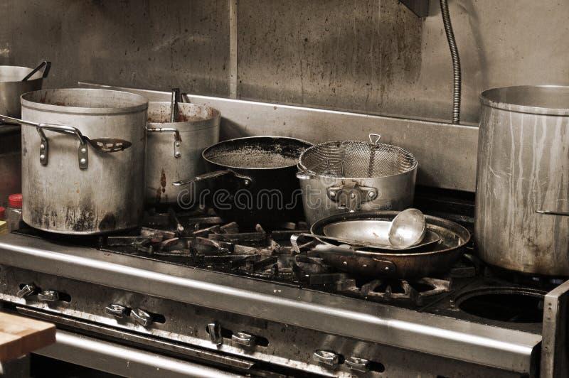 Cozinha imundo fotografia de stock royalty free