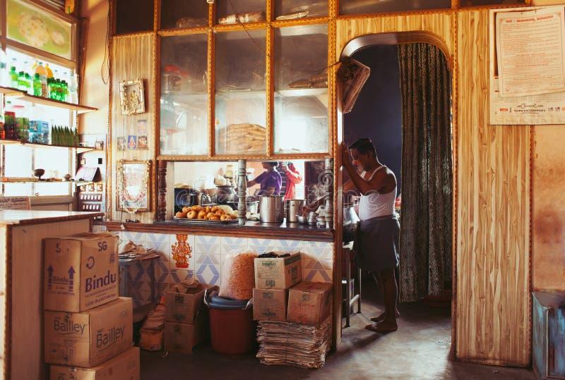 Cozinha indiana do café imagens de stock