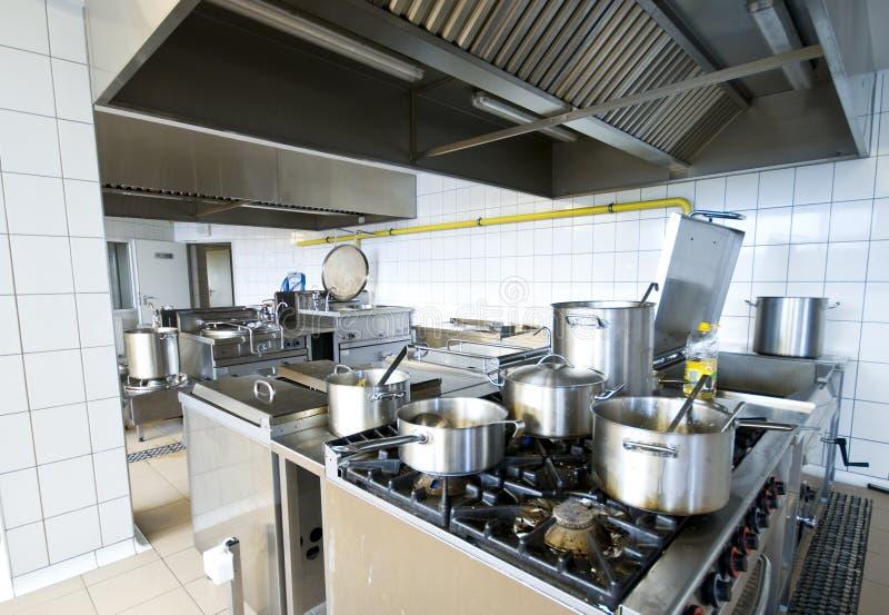 Cozinha industrial imagem de stock royalty free