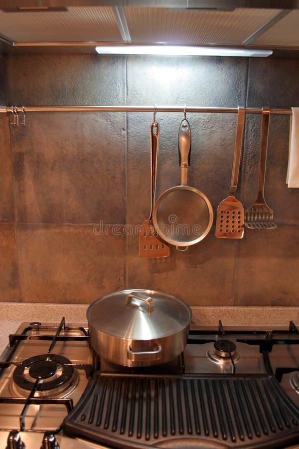 Cozinha - interiores home foto de stock
