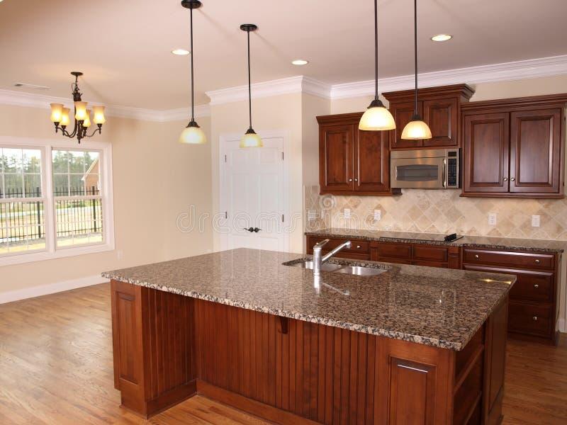 Cozinha luxuosa com console 2 fotos de stock royalty free