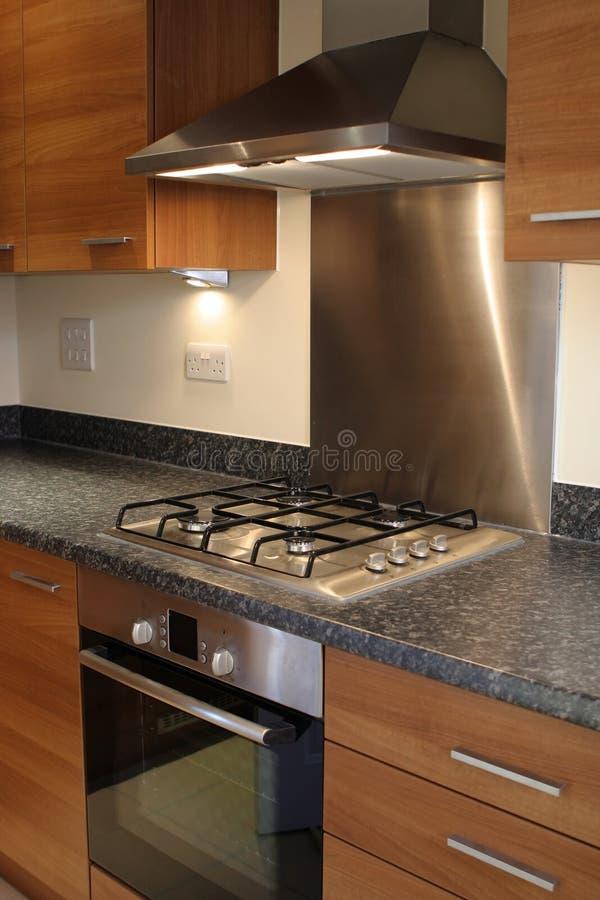 Cozinha luxuosa moderna nova foto de stock royalty free
