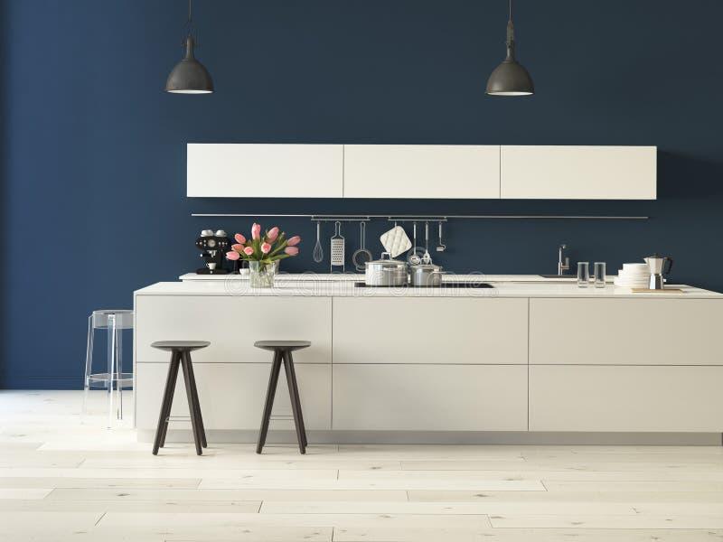 Cozinha luxuoso com dispositivos de aço inoxidável imagens de stock royalty free