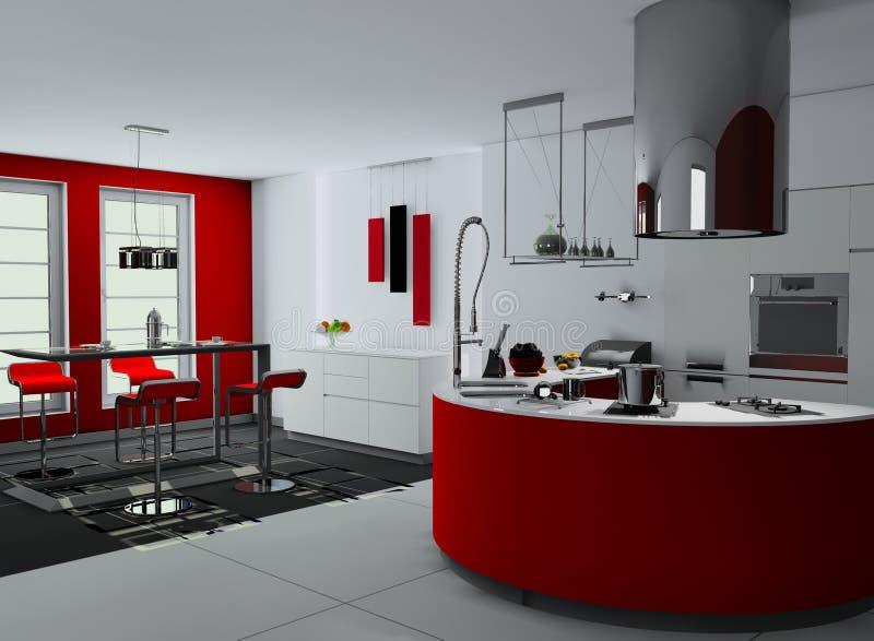 A cozinha moderna ilustração royalty free