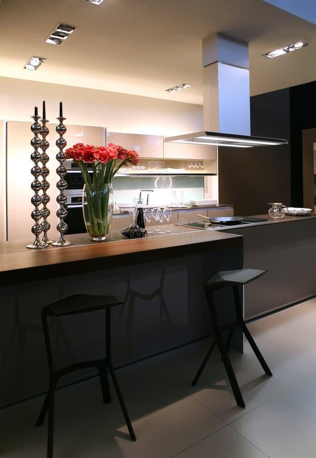 Cozinha moderna imagens de stock royalty free
