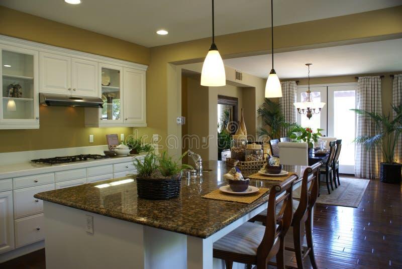 Cozinha moderna bonita imagens de stock