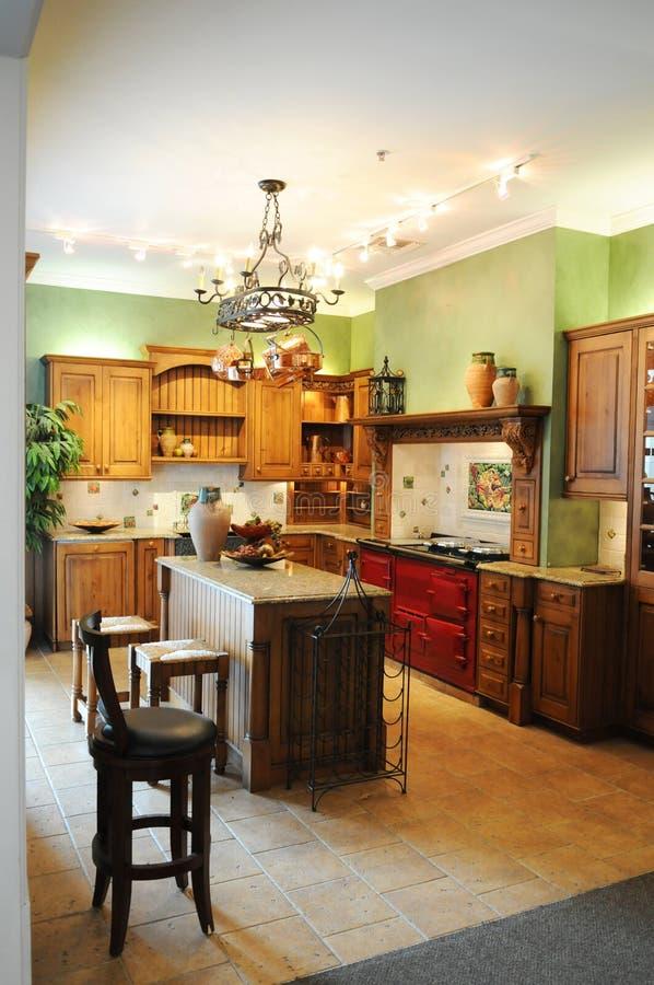 Cozinha moderna colorida foto de stock