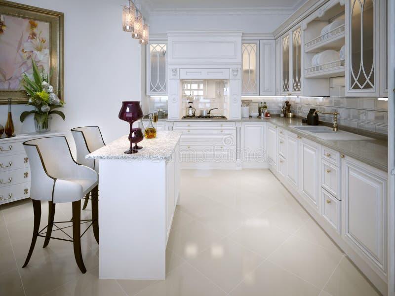 Cozinha no estilo clássico fotos de stock