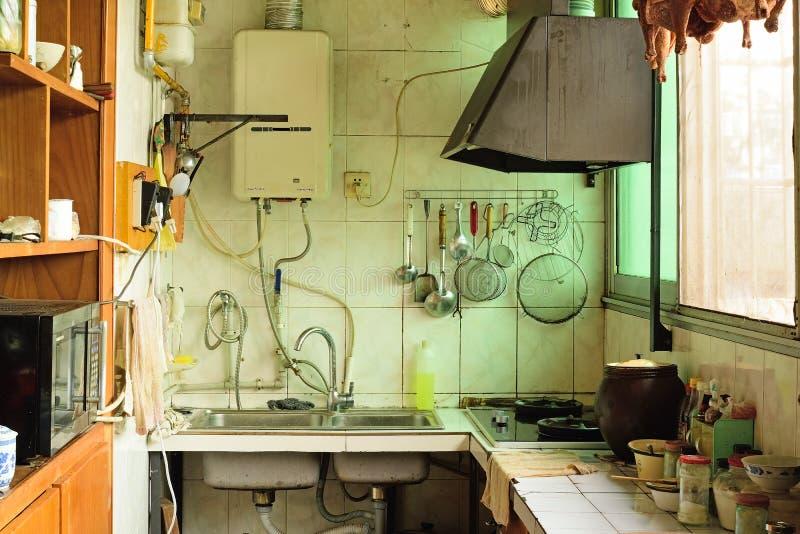 Cozinha ordinária e real fotografia de stock royalty free