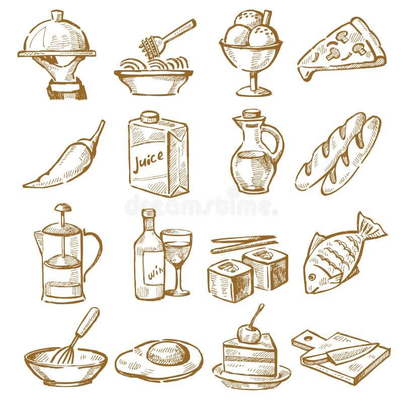 Cozinha tirada mão ilustração stock
