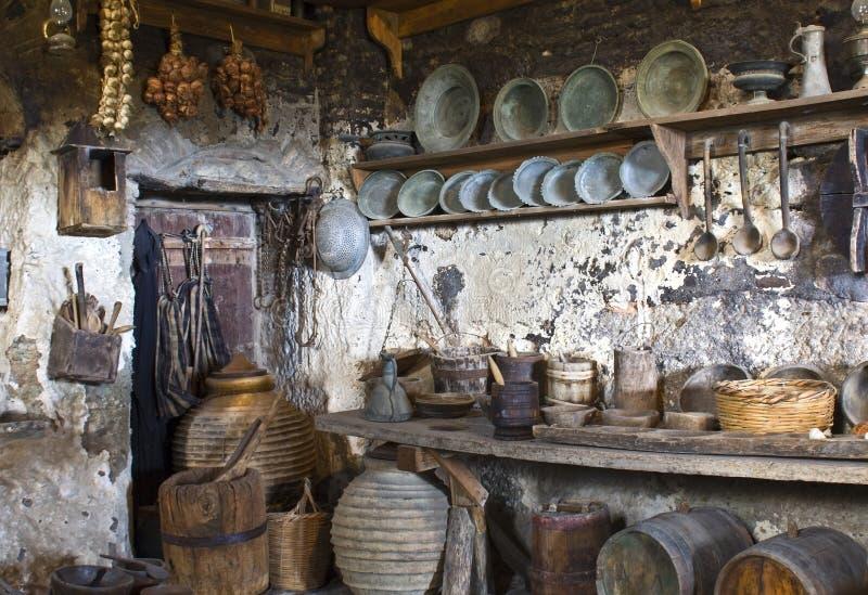Cozinha tradicional velha imagens de stock