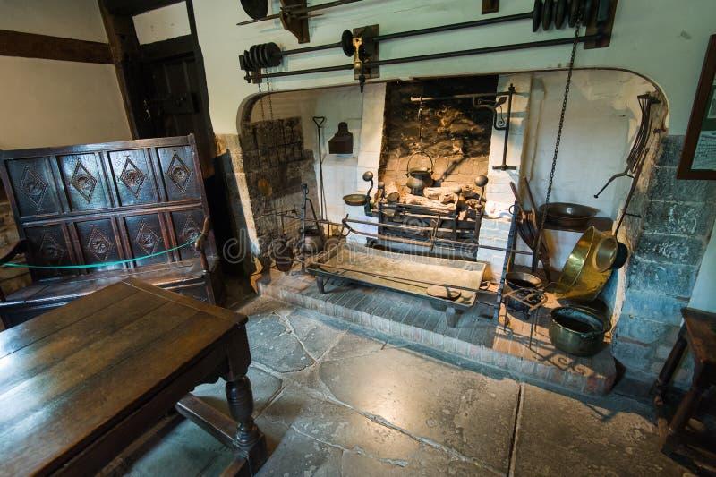 Cozinha velha foto de stock