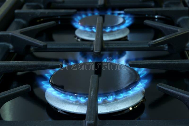Cozinhando anéis de gás imagem de stock