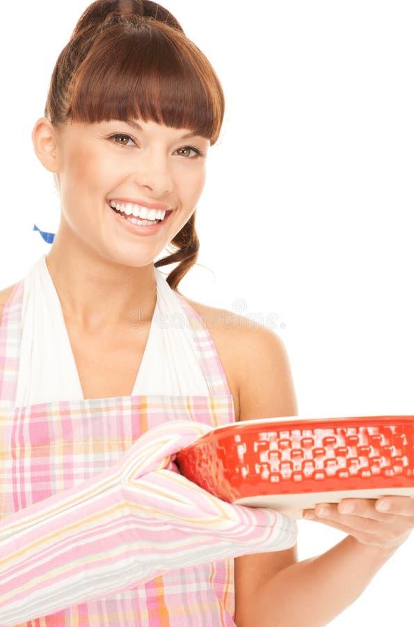 Cozinhando a dona de casa imagem de stock