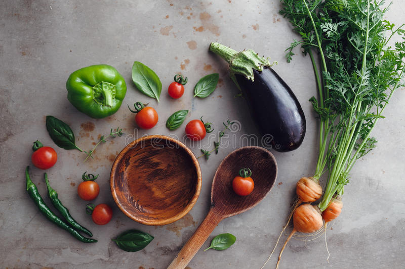 Cozinhando ingredientes foto de stock royalty free